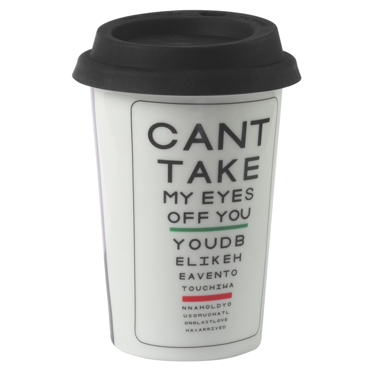 Mug à emporter Can't take my eyes off you 225 ml