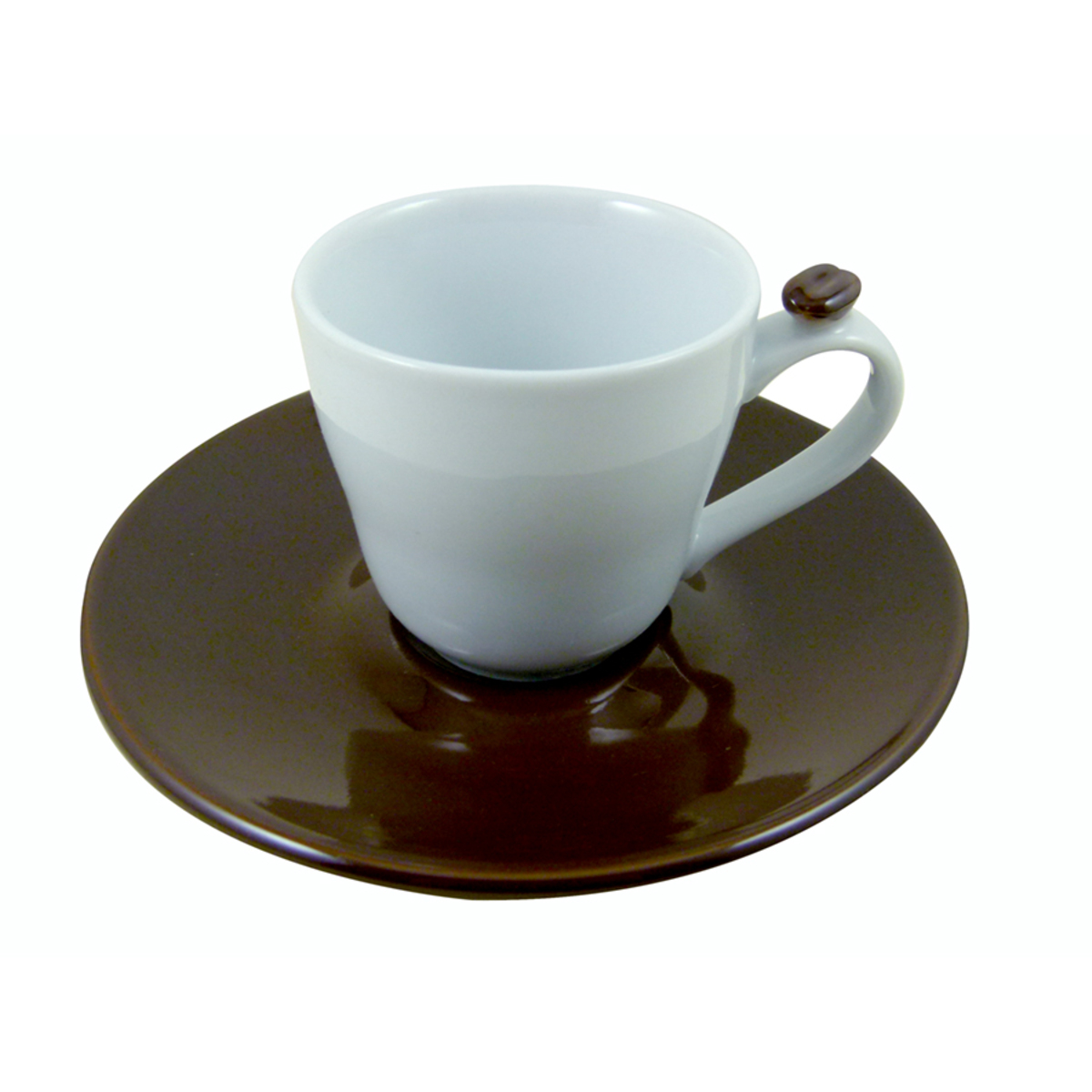 Set 6 tasses et soucoupes grains de café